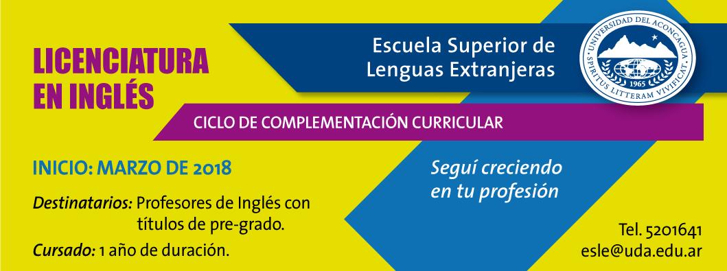 Ciclo de Licenciatura en Inglés