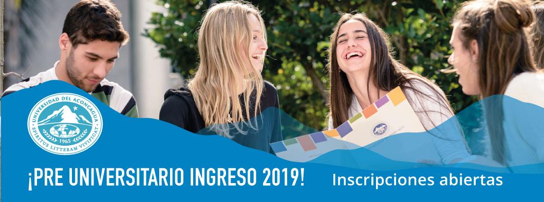 PreUniversitario Ingreso 2019